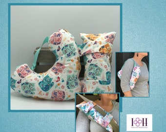 Mastectomy Pillow, Seatbelt Pillow, Calico Cats, Post Mastectomy, Breast Cancer Gifts
