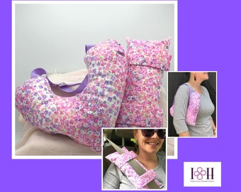 Mastectomy Pillows With Optional Matching Seatbelt Pillow, Breast Cancer Gifts