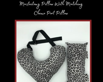 Animal Print Mastectomy Pillow, Seatbelt Pillow, Breast Cancer Gifts