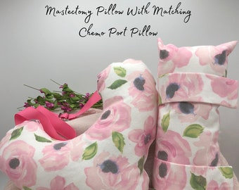 Mastectomy Pillows, Matching Seatbelt Pillow, Post Mastectomy, Breast Cancer Gifts