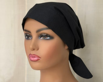 Scrub Caps For Women, Black Surgical Cap, Gift For Doctor