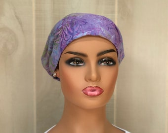 Head Scarf For Women With Hair Loss, Cancer Gifts, Chemo Headwear, Headwrap, Lavender Tie Dye