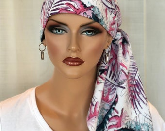 Fall Pre-Tied Head Scarf For Women With Hair Loss, Cancer Gifts, Chemo Head Wrap