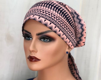 Chemo Head Wrap For Women With Hair Loss, Breast Cancer Gifts, Southwestern Head Scarf