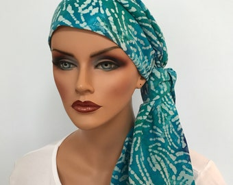 Jessica Pre-Tied Head Scarf - Women's Cancer Scarf, Chemo Hat, Alopecia Head Wrap, Head Cover, Hair Loss, Cancer Gift