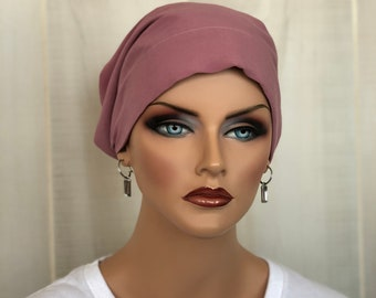 Head Scarf, Gift For Mom, Breast Cancer Gift, Dusty Rose