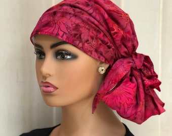 Pre-Tied Head Scarf For Women With Hair Loss, Breast Cancer Gifts, Head Wrap, Christmas Flowers