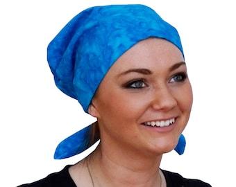 Women's Surgical Scrub Cap, Scrub Hat, Cancer Head Scarf, Chemo Headwear, Alopecia Head Cover, Head Wrap, Cancer Gift, Hair Loss, Turquoise