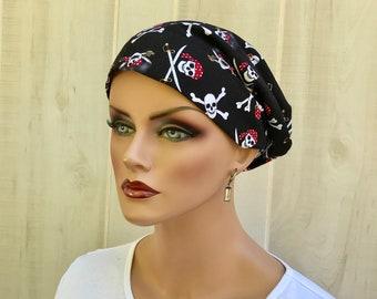 Women's Surgical Scrub Cap, Scrub Hat, Cancer Head Scarf, Chemo Headwear, Alopecia Head Cover, Head Wrap, Turban, Cancer Gift, Pirates
