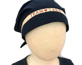Mia's Children's Team Spirit Scarf, Cancer Hat, Chemo Head Wrap, Alopecia, Cancer Gift, Hair Loss,