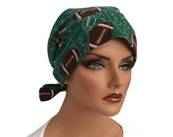 Women's Flannel Head Scarf, Cancer Headwear, Chemo Hat, Alopecia Head Cover, Head Wrap, Hair Loss Gift, Cancer Gift, Chemo Gift, Football