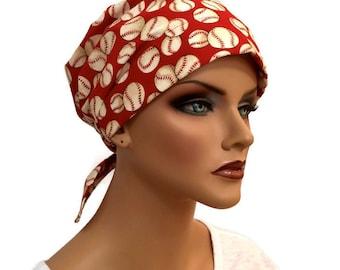 Women's Surgical Scrub Cap, Scrub Hat, Cancer Head Scarf, Chemo Headwear, Alopecia Head Cover, Head Wrap, Cancer Gift, Hair Loss, Baseball