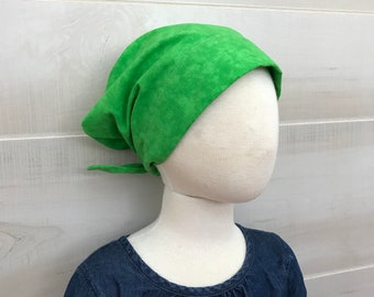 Children's Head Scarf, Girl's Chemo Hat, Cancer Headwear, Alopecia Head Cover, Head Wrap, Cancer Gift for Hair Loss, Chemo Gift, Lime Green