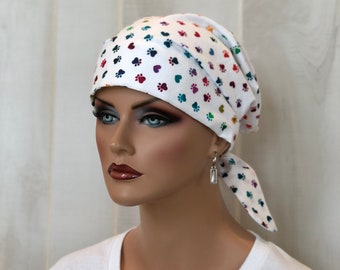 Scrub Caps For Women, Nurse Gift, Scrub Hats, Rainbow Animal Paws
