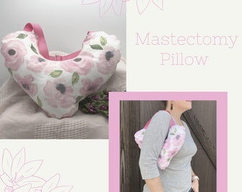 Flannel Mastectomy Pillow, Lumpectomy Pillow, Post Mastectomy, Breast Cancer Gifts