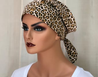 Scrub Caps For Women, Nurse Gift, Scrub Hats, Brown Cheetah