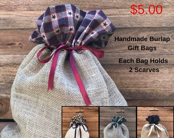 Gift Wrapping Available.  Eco Friendly Handmade Burlap Reusable Gift Bags, Birthday, Get Well, Christmas, Anniversary.