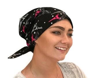 Sandra Scarf, A Women's Surgical Scrub Cap, Cancer Headwear, Chemo Head Scarf, Alopecia Hat, Head Wrap, Head Cover, Hair Loss - Travel Paris