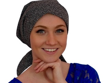 Women's Surgical Scrub Cap, Scrub Hat, Cancer Head Scarf, Chemo Headwear, Alopecia Head Cover, Head Wrap, Cancer Gift, Hair Loss, Black Vine
