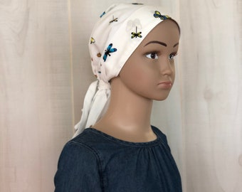Pre-Tied Head Scarf, Childhood Cancer, Chemo Headwear, Cancer Gifts, Butterflies