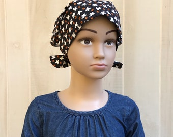 Children's Head Scarf, Girl's Chemo Hat, Cancer Headwear, Alopecia Head Cover, Head Wrap, Cancer Gift for Hair Loss, Ghosts and Pumpkins