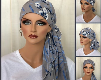 Pre-Tied Head Scarf For Women With Hair Loss, Cancer Gifts, Floral Head Wrap