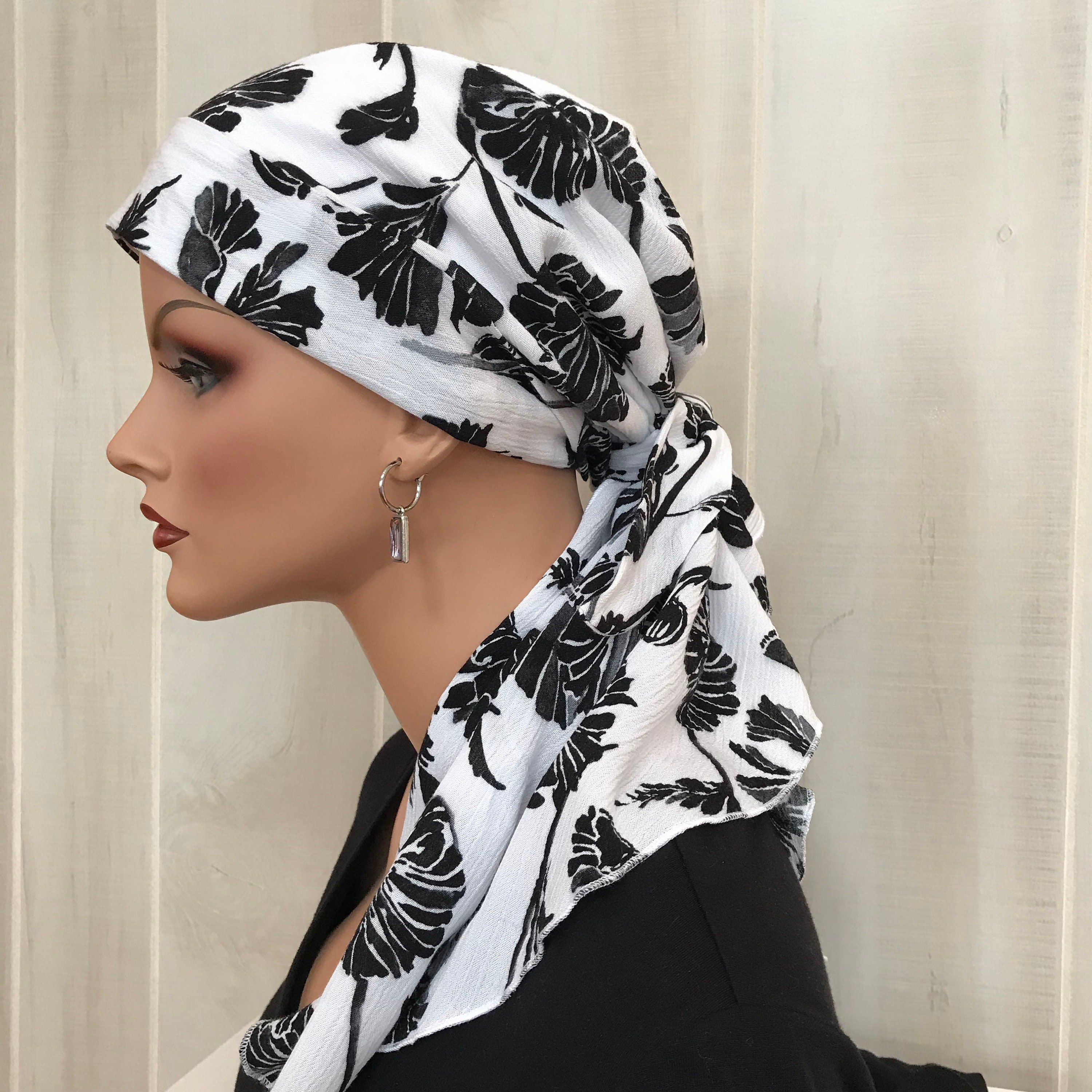 Pre-Tied Head Scarf For Women With Hair Loss  Cancer Headwear, Chemo