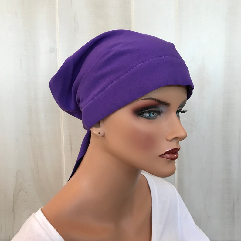 a5d91c2857bef Pre-Tied Head Scarf For Women With Hair Loss. Cancer Headwear | Etsy