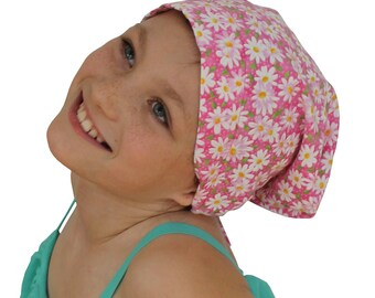 Chemo Headwear For Girls With Hair Loss, Childhood Cancer, Cancer Gifts, Daisy Chemo Hat
