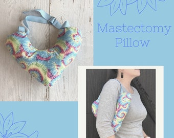 Tie Dye Mastectomy Pillow, Post Mastectomy, Breast Cancer Gifts