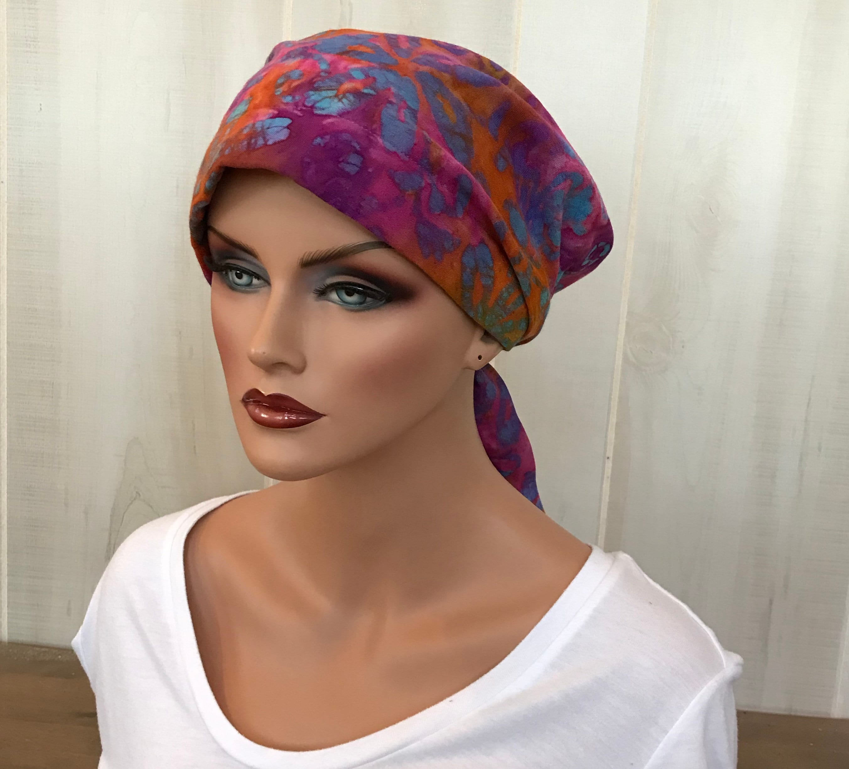 f2245b15991 Pre-Tied Head Scarf For Women With Hair Loss. Cancer Headwear ...