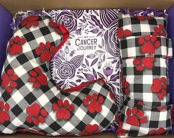 Breast Cancer Care Package, Paw Print, Post Mastectomy, Get Well Gift