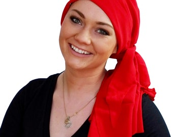 Pre-Tied Head Scarf For Women With Hair Loss, Breast Cancer Gifts, Chemo Head Wrap