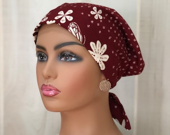 Fall Chemo Head Wrap For Women With Hair Loss, Cancer Gifts, Chemo Headwear