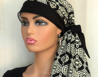 Boho Pre-Tied Head Scarf For Women With Hair Loss, Breast Cancer Gifts, Chemo Head Wrap