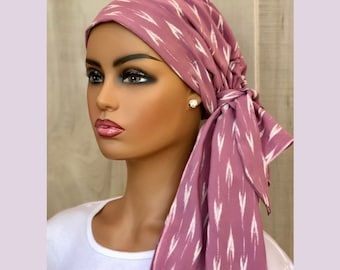 Pre-Tied Head Scarf, For Women, With Hair Loss, Chemo Headwear, Breast Cancer Gifts