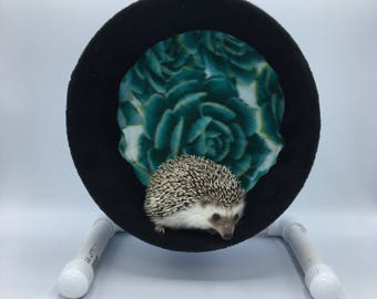 Wheel Cover, Teal Rose Fleece, with Waterproof back, for Hedgehogs, Rats, and other Small Animals
