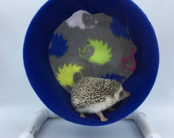 Wheel Cover, Hedgehogs on Grey Fleece, with Waterproof back, for Hedgehogs, Rats, and other Small Animals