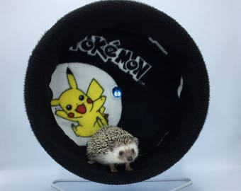 Wheel Cover, Black Pokemon, with Waterproof back, for Hedgehogs, Rats, and other Small Animals