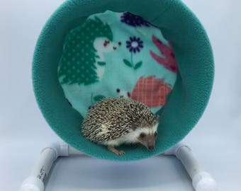 Wheel Cover, Teal Spring  Flowers Hedgehogs, with Waterproof back, for Hedgehogs, Rats, and other Small Animals