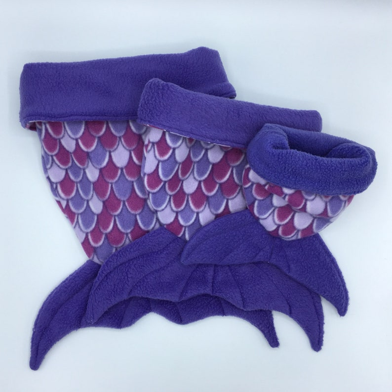 Fleece Sleep Sack and other Small animals Guinea Pigs for Hedgehogs Cuddle Sack Sugar Gliders Rats Purple Mermaid Tail
