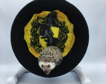 Wheel Cover, Hufflepuff Crest on Yellow, Harry Potter, with Waterproof back, for Hedgehogs, Rats, and other Small Animals