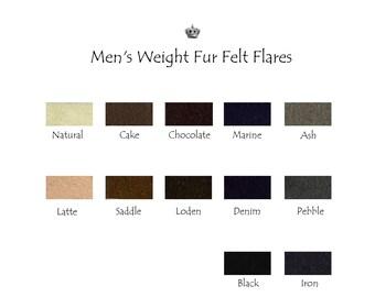 Men's Weight Fur Felt Hat Bodies - Flares