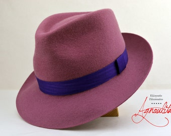 c5c59b0312d Womens Fedora | The OLD ROSE | Rose Pink Fedora Hat For Women | Wool Felt  Hat For Women