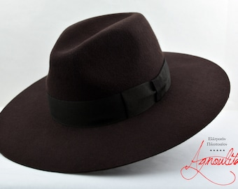 7090392e310 Brown wide brim hat