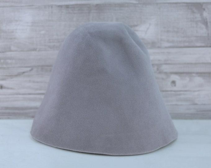 Pewter Grey   Velour   Rabbit Fur Felt Hat Bodies   Cones
