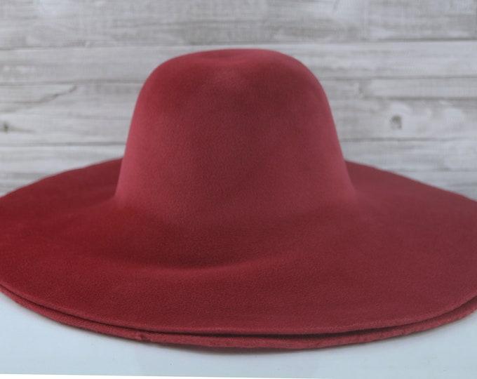 Ruby Red   Velour   Rabbit Fur Felt Hat Bodies   Capelines