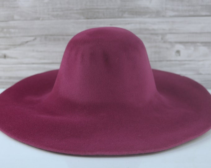 Wine Pink   Velour   Rabbit Fur Felt Hat Bodies   Capelines