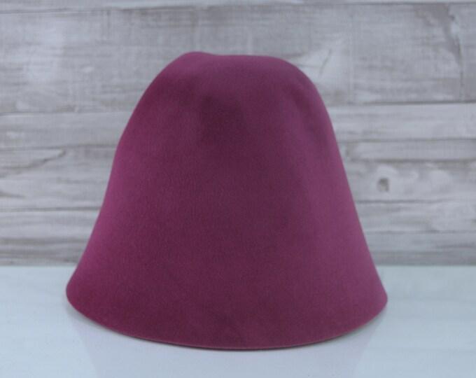 Purple   Velour   Rabbit Fur Felt Hat Bodies   Cones