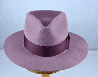 85027206 Wide Brim Fedora | The SOLO | Violet Wide Brim Hat Men Women | Fur Felt Hat  For Women Men | Fedora Hat